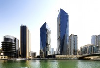 Silverene Building in Dubai Marina under construction